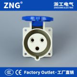 Wall Mount Industrial Socket 220V 16A3P, Hidden Industrial Socket 16A 2P+PE IP44