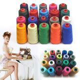 100% Polyester Dyed Colors 40s/2 5000 Yards Cone Sewing Thread for Leather Products, Tents, and Shoes