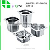 1/6 Nice polished stainless steel gastronrom container for hotel,GN Pan                                                                         Quality Choice