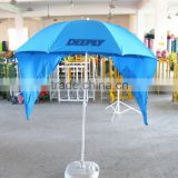 200cm hot selling printed advertising tent beach umbrella with hand bag