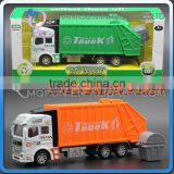 Mini Qute 1:32 kids Die Cast pull back alloy Garbage Truck vehicle diecast model car educational gift toy NO.MQ 2212
