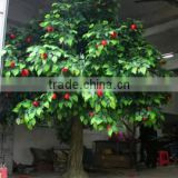 indoor artificial tree evergreen leaves fiberglass material artificial fruit tree/artificial apple tree