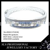2015 latest design fashion silver bangle sls jewelry handmade jewelry brand bangles for women
