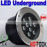 9W LED Underground light lights 85~265V White Red Blue Green