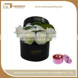 New design square hat flower packaging boxe