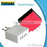 Travel Wall Charger 4 Port USB 5V 4.2A Wall Charger Universal AC Power Adapter with Foldable Plug for Phones