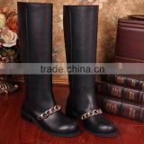 Fall Winter British Martin Boots Military Boots Flat Heel Pump Leather Boots for Women