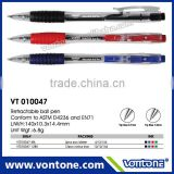 retractable ball point pen transparent