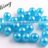 Turquoise Color New 2016 6MM to 20MM Stock Round Acrylic Jelly AB Beads for Chunky Necklace Wholesales Jewelry Paypal accept