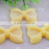 Jewelry Accessories!! Fashion resin rhinestone bow shaped beads!