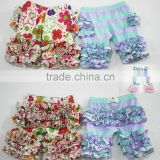 2016 hot sale baby ruffle pants floral design ruffle shorts newest girls short pants                                                                                                         Supplier's Choice