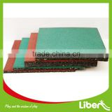 Red Green Color Differen Thickness Rubber Tile Floor Mat for Outdoor Playground                                                                         Quality Choice