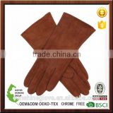 black pig suede fashion soft leather gloves