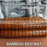 eco-friendly handmade cooling brown bamboo quilted zipper mattress cover