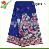 GQ009-5 New Arrival African lace embroidery fabric, African beautiful High Quality george fabric In royal blue