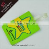 Luggage accessories promotional gifts standard size pvc luggage tag