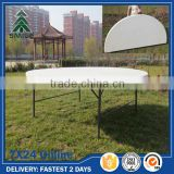 White Cheap Outdoor Plastic Round Folding table for 10 seats                                                                                         Most Popular