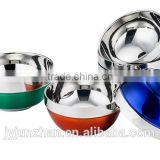 Factory direct-sell stainless steel soup bowl with matt polishing outside and high mirror inside