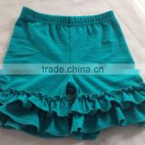 wholesale baby double ruffle shorts,Girls simple shorts pants,Ruffle shorts,In stock baby shorts,Shorts stock