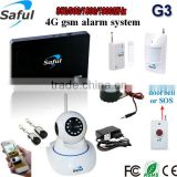 DIY Emergency kit calling system, dual network gsm wireless burglar alarm system, gsm dual network home alarm