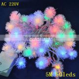 RGB or Single Color Solar Fairy Light IP44 Wedding Party LED String 5M 50LED Christmas Tree Decorations