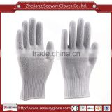 SEEWAY PVC Dots Dipped White Cotton knitted Industry Safety Work Gloves for Hands Protection