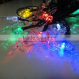 Colorful solar strip light with 10 Deer led+4.5M lenght Cable using for christmas,festival decoration