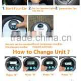 007 Portable 12V 260PSI Car Tire Tyre Inflator Pump Mini Digital Compressor Auto Stop Pump Car Bike Tyre Air Inflator
