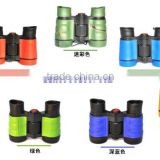 China color toy binoculars , children binoculars ,kids plastic gift binoculars Environmental rubber toy telescope 4X30
