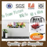 New Material PET 1.5mm No Frame Picture Wholesale nature digital printing, 3d picture printed