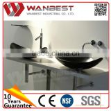 Low price competitive free standing marble wash hand basin
