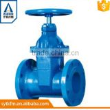 2015 TKFM flange connection 2 inch water pipe plain gate valve cad drawings