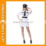 PGWC2581 Carnival hot selling high quality sexy 100% polyester fantasy police women party costume