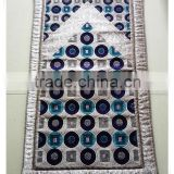 Muslim woven prayer rug, Chenille jacquard mat with memory foam