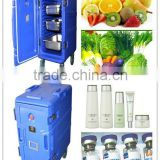 Cold insulated cabinet, food pan carrier, food container