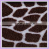 7mm short pile polyester acrylic leopard print velboa fabric fake fur grey fabric textile wholesale fabric china