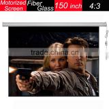 Hot selling fiber glass 150 inch electric motorized 4:3 screen projector