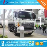 Japan Hino competitive price self loading container trailer / sand tipper dump truck for transport