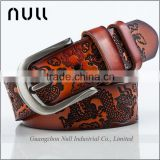 Embossed Pattern Chinese Style Hot Design Women Style Custom Genuine Leather Woman Belt                                                                         Quality Choice