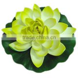 Yellow Beautiful EVA Floating Artificial Lotus / White Water Lily