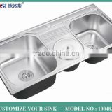 newest 2015 modern style foshan undermount stainless steel sinks 18 gauge 10048A