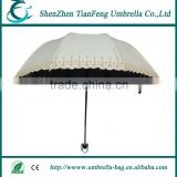 New Arrival Beautiful Ladies High Quality Unique Embroidery fabric Sun and Rain Fold Umbrella