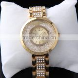 Bracelet women gold big watch stainless steel back nickel free