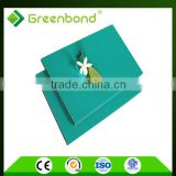 Greenbond unbreakable PVDF & PE high gloss plastic exterior decorative metal wall panel