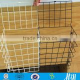 Metal wire basket, iron powder coated office wire basket for paper magazine