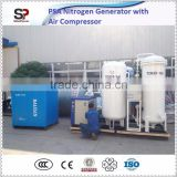 Low Power Consumption PSA(Pressure Swing Adsorption) Nitrogen Generator/Nitrogen Generator Plant With Air Compressor