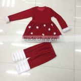 Wholesale Children's Ruffle Pants Clothing Sets Suit Christmas Toddler Giggle Moon Remake Set Kids girls boutique clothing sets