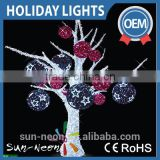 outdoor large Christmas led ball lighted decoration ornament Christmas ball motif tree / artificial wedding tree