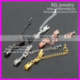 KJL-BD5324 Wholesale Craft Cord Clasps End Caps With Lobster Clasp 6x35mm Beads jewelry findings in 5 color