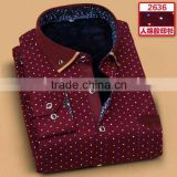2015 latest design men's long sleeve check flannel shirt men dress shirts italian shirt